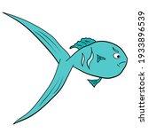 angry fish cartoon. vector fish ...   Shutterstock .eps vector #1933896539