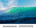 Turquoise Waves In Ocean....