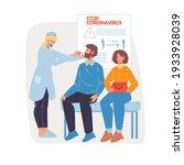 vector cartoon flat doctor... | Shutterstock .eps vector #1933928039