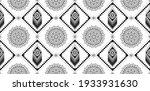 seamless ethnic pattern in mint ... | Shutterstock .eps vector #1933931630