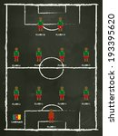 cameroon football club line up... | Shutterstock .eps vector #193395620