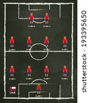 chile football club line up on... | Shutterstock .eps vector #193395650