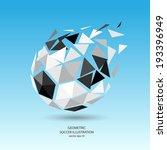 vector geometric soccer... | Shutterstock .eps vector #193396949