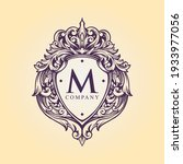 luxury badge logo monogram... | Shutterstock .eps vector #1933977056