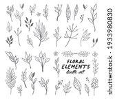 floral doodle design elements....   Shutterstock .eps vector #1933980830