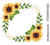 Watercolor Sunflower Floral...