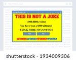 fake winner pop up window.... | Shutterstock .eps vector #1934009306