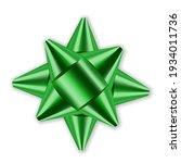 green bow 3d ribbon decor... | Shutterstock . vector #1934011736