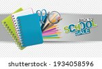 back to school sale banner on... | Shutterstock .eps vector #1934058596