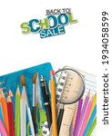 back to school sale poster or... | Shutterstock .eps vector #1934058599