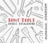 tool doodle banner icon. work...   Shutterstock .eps vector #1934093399
