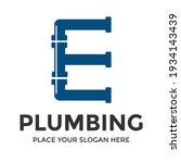 e letter vector logo template.... | Shutterstock .eps vector #1934143439