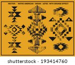 native american patterns with... | Shutterstock .eps vector #193414760