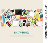 back to school flat style... | Shutterstock .eps vector #193415234