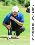 golf player on course putting ... | Shutterstock . vector #193415849