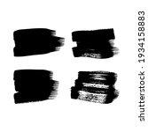 set of four black grunge brush...   Shutterstock .eps vector #1934158883