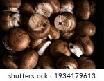 Close Up Of Cremini Mushrooms ...