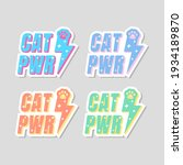 cat power quotes stickers...   Shutterstock .eps vector #1934189870