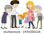 member of family cartoon... | Shutterstock .eps vector #1934200226