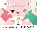 medical workers making a huddle ... | Shutterstock .eps vector #1934204336