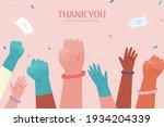 thank you hero banner. hands of ... | Shutterstock .eps vector #1934204339