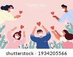 thank you hero illustration in... | Shutterstock .eps vector #1934205566