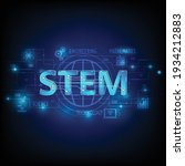 stem education  consisting of ... | Shutterstock .eps vector #1934212883