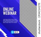 geometric online webinar social ... | Shutterstock .eps vector #1934214170