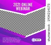 geometric online webinar social ... | Shutterstock .eps vector #1934214173