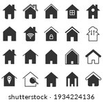 set of home icon  thin outline... | Shutterstock .eps vector #1934224136