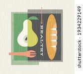 retro illustration of healthy...   Shutterstock .eps vector #1934229149