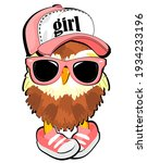 Brown Owl With Pink Sunglasses...