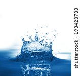 water splash isolated on white | Shutterstock . vector #193423733
