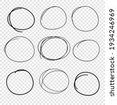 hand drawn set of objects for... | Shutterstock .eps vector #1934246969