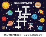space crossword puzzle for kids....   Shutterstock .eps vector #1934250899