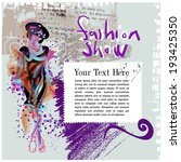 fashion show poster   Shutterstock .eps vector #193425350