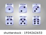 white dice. set of game cubes...