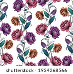 vector colorful textile floral... | Shutterstock .eps vector #1934268566