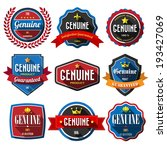 genuine retro vintage badges... | Shutterstock .eps vector #193427069