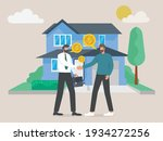 character buying mortgage house ... | Shutterstock .eps vector #1934272256
