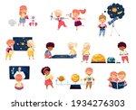 children characters studying...   Shutterstock .eps vector #1934276303