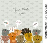 funny background with funny... | Shutterstock .eps vector #193427930