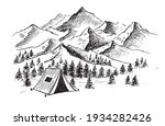 mountain landscape  camping in...   Shutterstock .eps vector #1934282426
