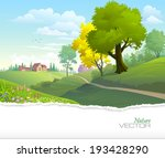 country side view of a town... | Shutterstock .eps vector #193428290