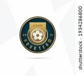 soccer club emblem. football... | Shutterstock .eps vector #1934286800