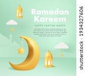 ramadan kareem square banners... | Shutterstock .eps vector #1934327606