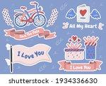 valentine illustration vector... | Shutterstock .eps vector #1934336630