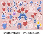 valentine illustration vector... | Shutterstock .eps vector #1934336636