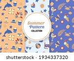 seamless summer pattern vector... | Shutterstock .eps vector #1934337320