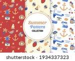 seamless summer pattern vector... | Shutterstock .eps vector #1934337323